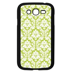 White On Spring Green Damask Samsung Galaxy Grand Duos I9082 Case (black) by Zandiepants