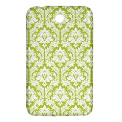 White On Spring Green Damask Samsung Galaxy Tab 3 (7 ) P3200 Hardshell Case  by Zandiepants