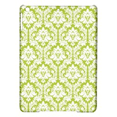 White On Spring Green Damask Apple Ipad Air Hardshell Case by Zandiepants