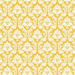 White On Sunny Yellow Damask Canvas 16  X 16  (unframed) by Zandiepants