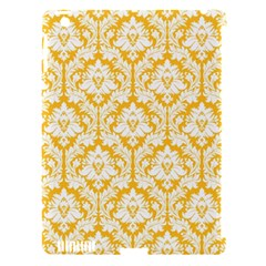 White On Sunny Yellow Damask Apple Ipad 3/4 Hardshell Case (compatible With Smart Cover) by Zandiepants