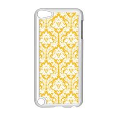 White On Sunny Yellow Damask Apple Ipod Touch 5 Case (white) by Zandiepants