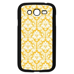 White On Sunny Yellow Damask Samsung Galaxy Grand Duos I9082 Case (black)