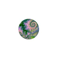 Rose Apple Green Dreams, Abstract Water Garden 1  Mini Button by DianeClancy