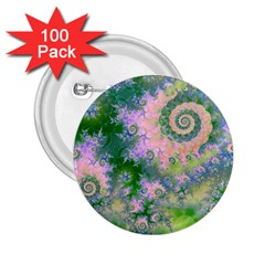 Rose Apple Green Dreams, Abstract Water Garden 2 25  Button (100 Pack) by DianeClancy