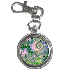 Rose Apple Green Dreams, Abstract Water Garden Key Chain Watch by DianeClancy