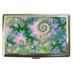 Rose Apple Green Dreams, Abstract Water Garden Cigarette Money Case by DianeClancy