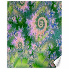 Rose Apple Green Dreams, Abstract Water Garden Canvas 16  X 20  (unframed) by DianeClancy