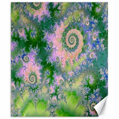 Rose Apple Green Dreams, Abstract Water Garden Canvas 20  X 24  (unframed) by DianeClancy