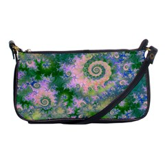 Rose Apple Green Dreams, Abstract Water Garden Evening Bag by DianeClancy