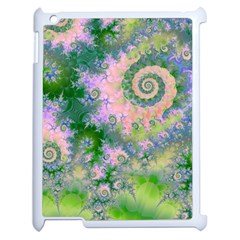 Rose Apple Green Dreams, Abstract Water Garden Apple Ipad 2 Case (white) by DianeClancy