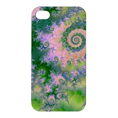 Rose Apple Green Dreams, Abstract Water Garden Apple Iphone 4/4s Hardshell Case by DianeClancy