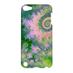 Rose Apple Green Dreams, Abstract Water Garden Apple Ipod Touch 5 Hardshell Case by DianeClancy