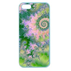 Rose Apple Green Dreams, Abstract Water Garden Apple Seamless Iphone 5 Case (color) by DianeClancy