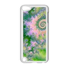 Rose Apple Green Dreams, Abstract Water Garden Apple iPod Touch 5 Case (White) by DianeClancy