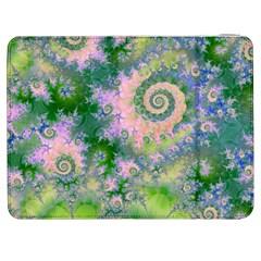 Rose Apple Green Dreams, Abstract Water Garden Samsung Galaxy Tab 7  P1000 Flip Case by DianeClancy