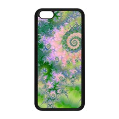 Rose Apple Green Dreams, Abstract Water Garden Apple Iphone 5c Seamless Case (black) by DianeClancy