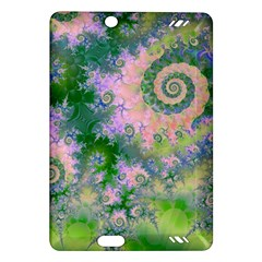 Rose Apple Green Dreams, Abstract Water Garden Kindle Fire Hd 7  (2nd Gen) Hardshell Case by DianeClancy
