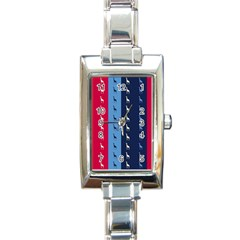 Giraffentapete Rectangular Italian Charm Watch by Siebenhuehner