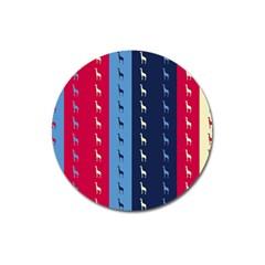 Giraffentapete Magnet 3  (round) by Siebenhuehner