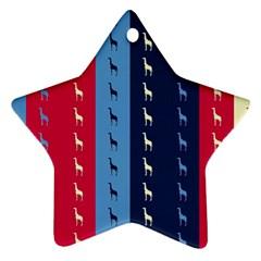 Giraffentapete Star Ornament (two Sides) by Siebenhuehner