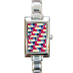 Hearts Rectangular Italian Charm Watch by Siebenhuehner