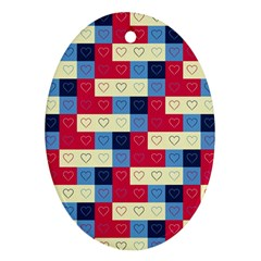 Hearts Oval Ornament by Siebenhuehner