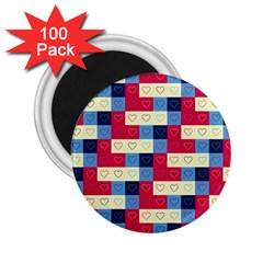 Hearts 2 25  Button Magnet (100 Pack) by Siebenhuehner