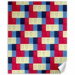 Hearts Canvas 16  X 20  (unframed) by Siebenhuehner