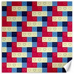 Hearts Canvas 20  X 20  (unframed) by Siebenhuehner