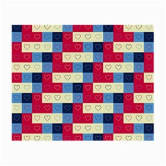 Hearts Glasses Cloth (small, Two Sided) by Siebenhuehner