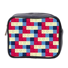 Hearts Mini Travel Toiletry Bag (two Sides) by Siebenhuehner