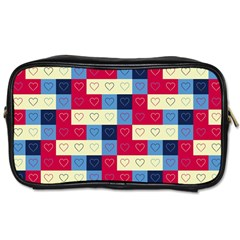 Hearts Travel Toiletry Bag (one Side) by Siebenhuehner