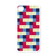 Hearts Apple Iphone 4 Case (white) by Siebenhuehner