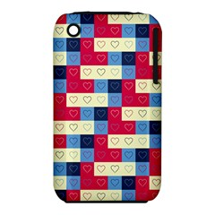 Hearts Apple Iphone 3g/3gs Hardshell Case (pc+silicone) by Siebenhuehner