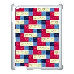 Hearts Apple Ipad 3/4 Case (white) by Siebenhuehner