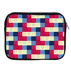 Hearts Apple Ipad Zippered Sleeve by Siebenhuehner