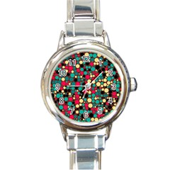 Retro Round Italian Charm Watch by Siebenhuehner