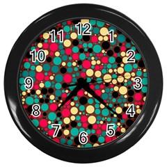Retro Wall Clock (black) by Siebenhuehner