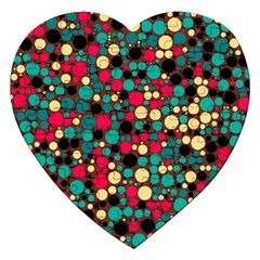 Retro Jigsaw Puzzle (heart) by Siebenhuehner