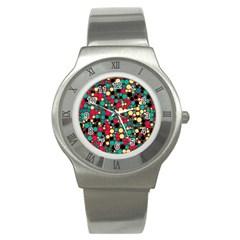 Retro Stainless Steel Watch (slim) by Siebenhuehner
