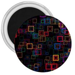 Retro 3  Button Magnet by Siebenhuehner