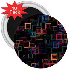 Retro 3  Button Magnet (10 Pack) by Siebenhuehner