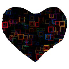 Retro 19  Premium Heart Shape Cushion by Siebenhuehner