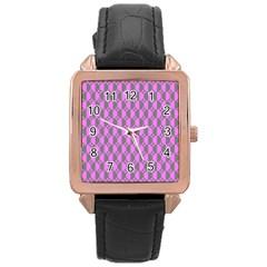 Retro Rose Gold Leather Watch  by Siebenhuehner