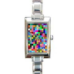Tapete4 Rectangular Italian Charm Watch by Siebenhuehner