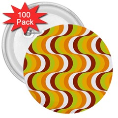 Retro 3  Button (100 Pack) by Siebenhuehner