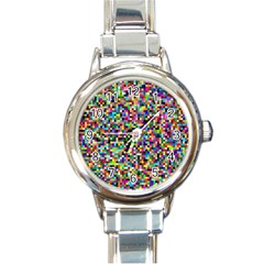 Color Round Italian Charm Watch by Siebenhuehner