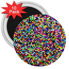 Color 3  Button Magnet (10 Pack) by Siebenhuehner