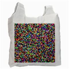 Color White Reusable Bag (one Side) by Siebenhuehner